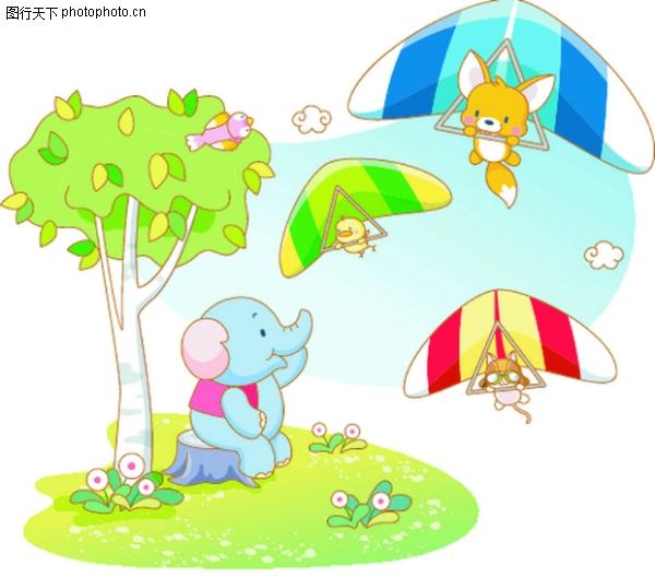 滑翔机 卡通动物-卡通-卡通,卡通动物