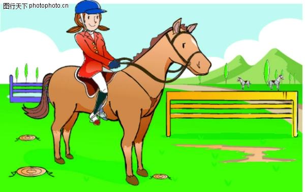 马术比赛 儿童运动-少年儿童-少年儿童,儿童运动