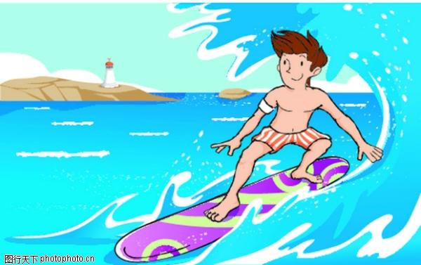 冲浪 儿童运动-少年儿童-少年儿童,儿童运动