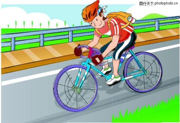骑自行车 儿童运动-少年儿童-少年儿童,儿童运动