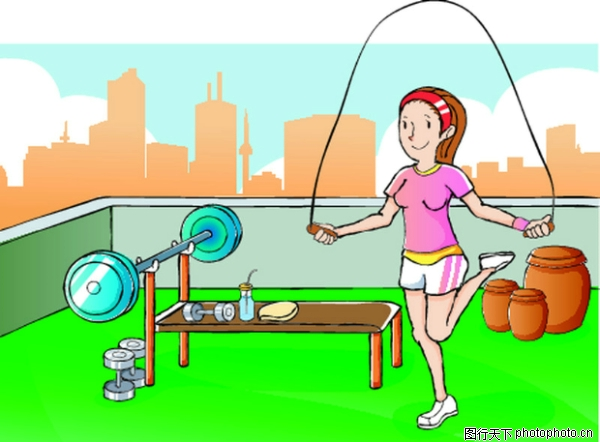 跳绳 儿童运动-少年儿童-少年儿童,儿童运动